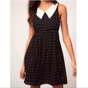 ASOS Vero Moda heart print statement collar dress